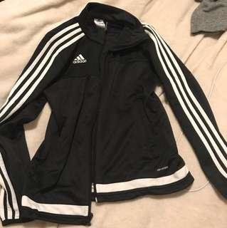ADIDAS 3 stripe zip up sweater