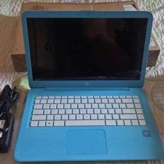 "HP - Stream 14"" Laptop - Intel Celeron - 4GB Memory - 32GB eMMC Flash Memory - Aqua blue"