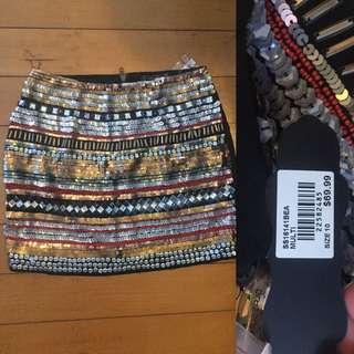 Glassons Sz 10 Sequinned Mini Skirt