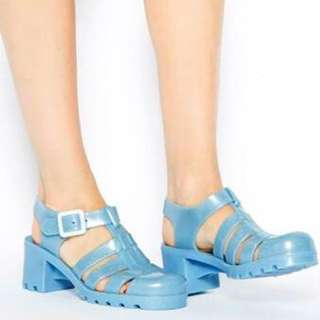 JUJU blue jellies shoes