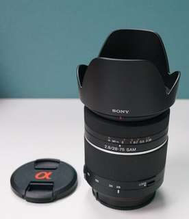 Sony 28-75mm F2.8 lens (A Mount)