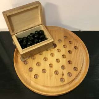 Hand carved Chinese Checkers