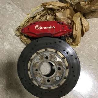 Anyone interested Honda Fit GE 4 pot brake with rotor n bracket