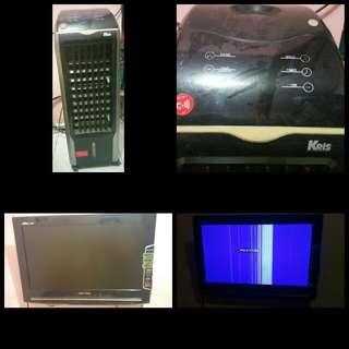 Borongan TV LED Polytron dan Air Cooler Krisbow