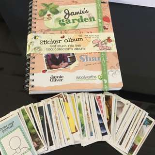 NEW FULL SET. Jamie Oliver's garden sticker book & full sticker set.
