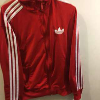 red adidas zipup