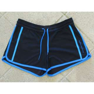 RUNNING BARE black and blue shorts  - size 12