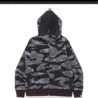 Bape Tiger shark Camo hoodie