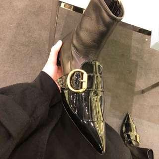 Prada sock boots in black