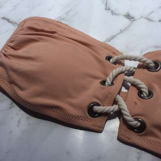 H&M pale pink / nude bandeau bikini size 8 - brand new with tags