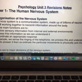 VCE Psychology Unit 3 and 4 Notes