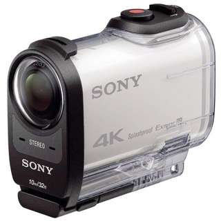 Sony Action Cam 4K with Wi-Fi & GPS + Live View Remote + Waterproof Case full set