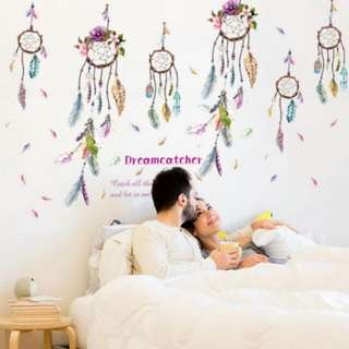 Instock Dream Catcher-Feather Wall Decal