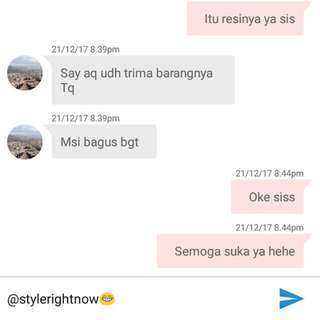 One Of Our Customer Testimoni😘