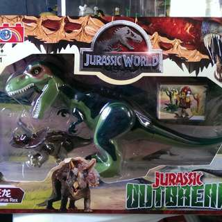 For Sale Jurassic Big Green TRex Building Blocks Toy