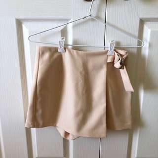 Nude skort with Silver Detail