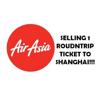 SELLING 1 ROUNDTRIP TICKET TO SHANGHAI