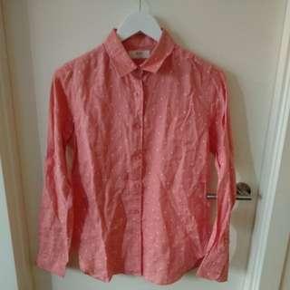 Linen polka dot shirt