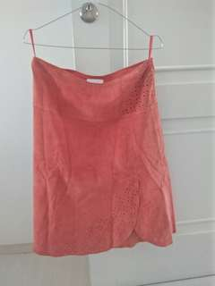 Promod Orange Skirt