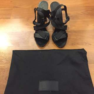 Alexander Wang Black Strappy Sandals Sz 37 - Excellent Condition