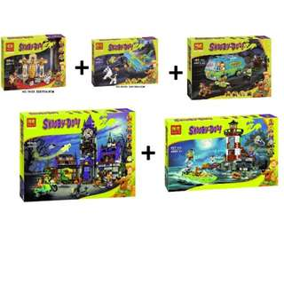 Scooby Doo full 5 sets  compatible with lego lepin bela 5 sets for only 1 price