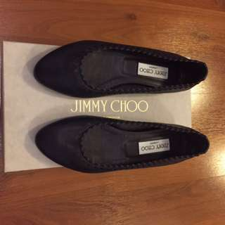 Like New Jimmy Choo Glee Flats in blackberry size 5