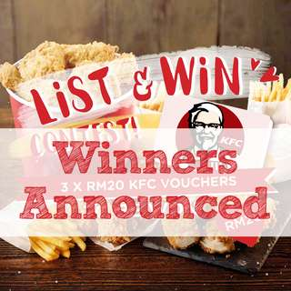 List to win KFC vouchers