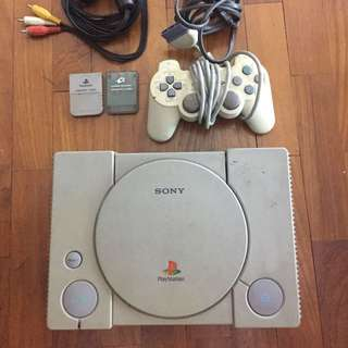 PlayStation X with games