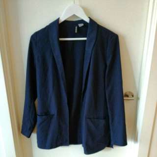 Navy casual blazer coat