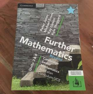 Further Mathematics Cambridge 3/4 VCE