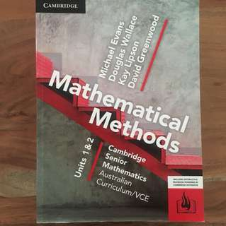 Cambridge Maths Methods 1/2 Textbook VCE