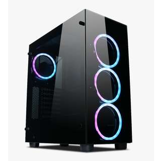 Tecware VOID ATX  RGB TG ATX 4 x RGB Fans Front and Side Tempered Glass