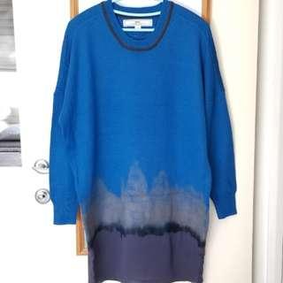 正品Initial 寶藍色漸變物料連身裙