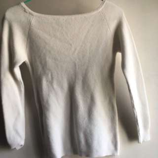 White woollen sweater韓版緊身冷衫