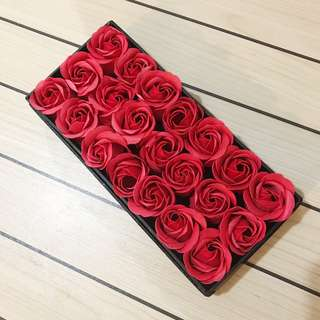 Red Soap Valentines Flowers V Day Roses Anniversary Wedding Gift