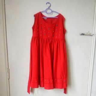 Girls Cotton Dress(Hand-embroidered)