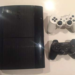 PS3 console 500GB with 2 controllers