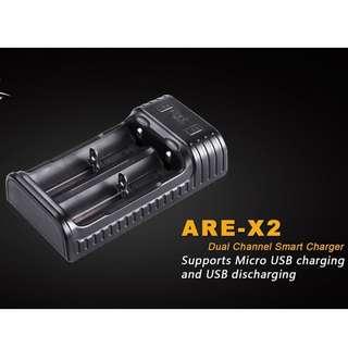 Fenix ARE-X2 Dual-Bay Li-ion/Ni-MH 1.5A/1A USB Smart Charger