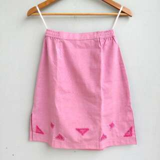 Triangle Pink Skirt