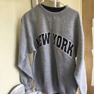 RUSSELL ATHLETIC GREY NEW YORK SWEATSHIRT