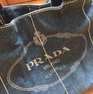 Prada Denim bag (dari factory, ori reject)