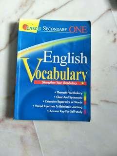 Secondary one English Vocabulary