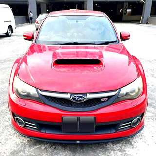 Subaru Impreza WRX STI Ver 10 5 Door 2008 2.5L Turbo Boxer Engine. 300Hp 6 Speed Manual Transmission Status : 🇸🇬 (S'PORE) Excellent Condition  For Spare Parts Or Track Use.  Interested Pls Click 👇 (CHAT)