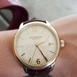 Almost new burberry automatic watch