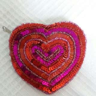 Accessorize Heart Coin Purse