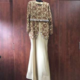 Lace dress with beading (never worn)