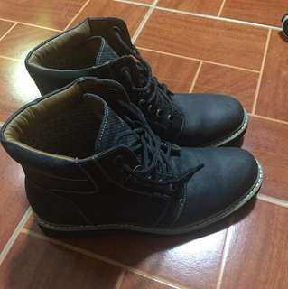 REPRICED: GIBI HOMME Navy Blue Genuine Leather Boots (SIZE:9)