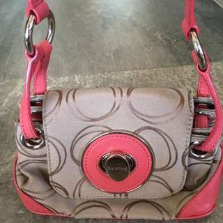 Authentic Oroton canvas/leather cross body bag
