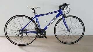 "Aleoca Hybrid Bicycle Cavallo Breed 26"" - Blue/White"