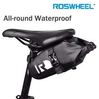 Bicycle Seat Bag - Roswheel All-round Waterproof Seat Pouch / Buckle Design Bicycle Pannier Frame Mount Storage Bag Outdoor Sports Mobile Phone Case Holder PVC Bags for Electric E Scooter eScooter Bike Cycling Riding in Rain / 100% Waterproof